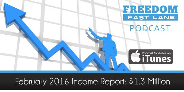 February 2016 Income Report: $1.3M