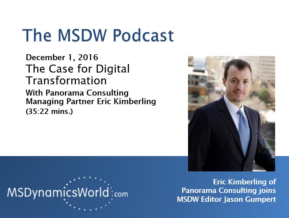 Artwork for The MSDW Podcast, December 5, 2016: The Case for Digital Transformation