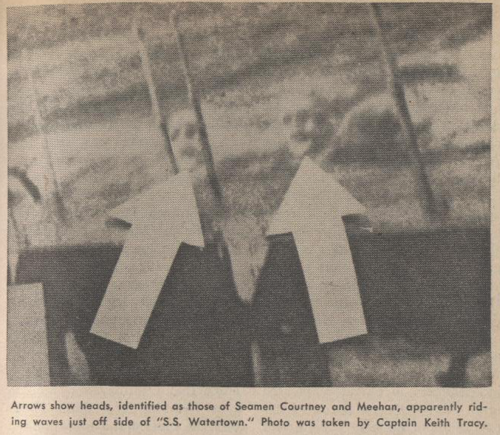 """detail of the """"Watertown ghosts"""" from Fate magazine, 1963."""