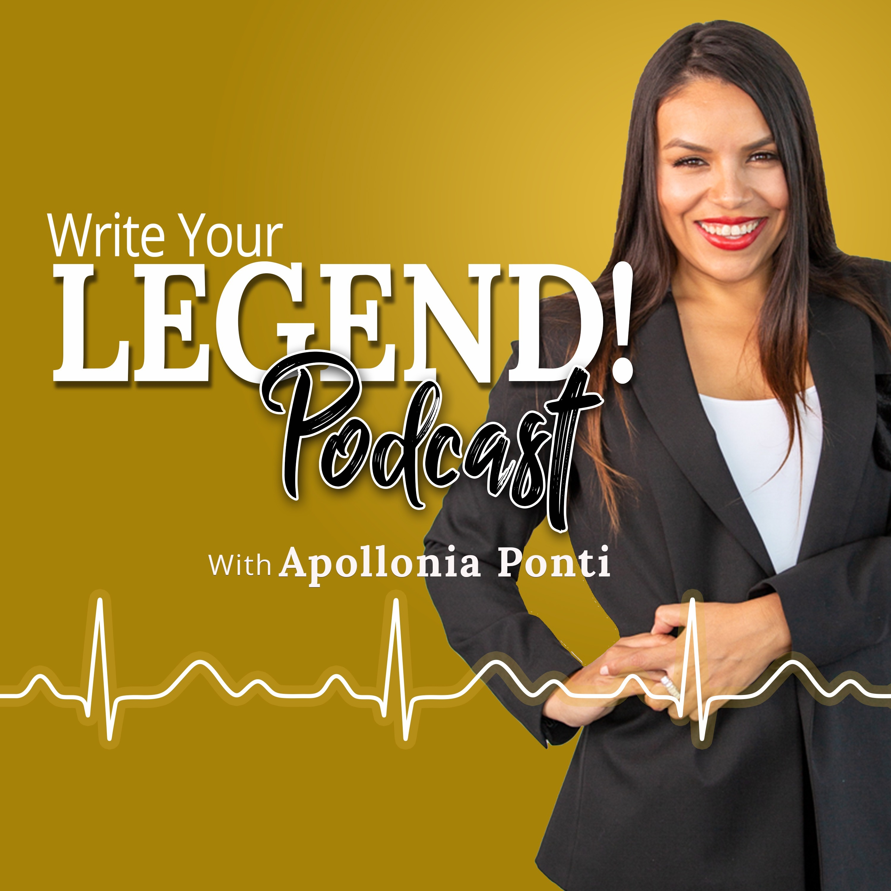How To Spark Romantic Tension INSTANTLY! | Write Your Legend Podcast with Apollonia Ponti show art