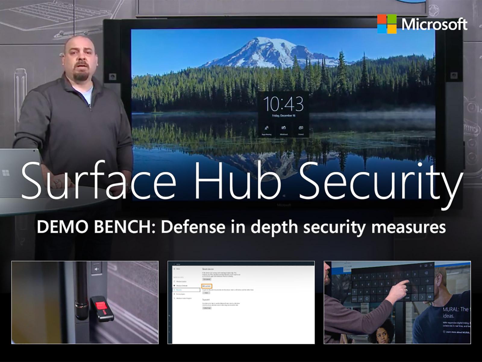 Artwork for Microsoft Surface Hub's defense in depth security measures