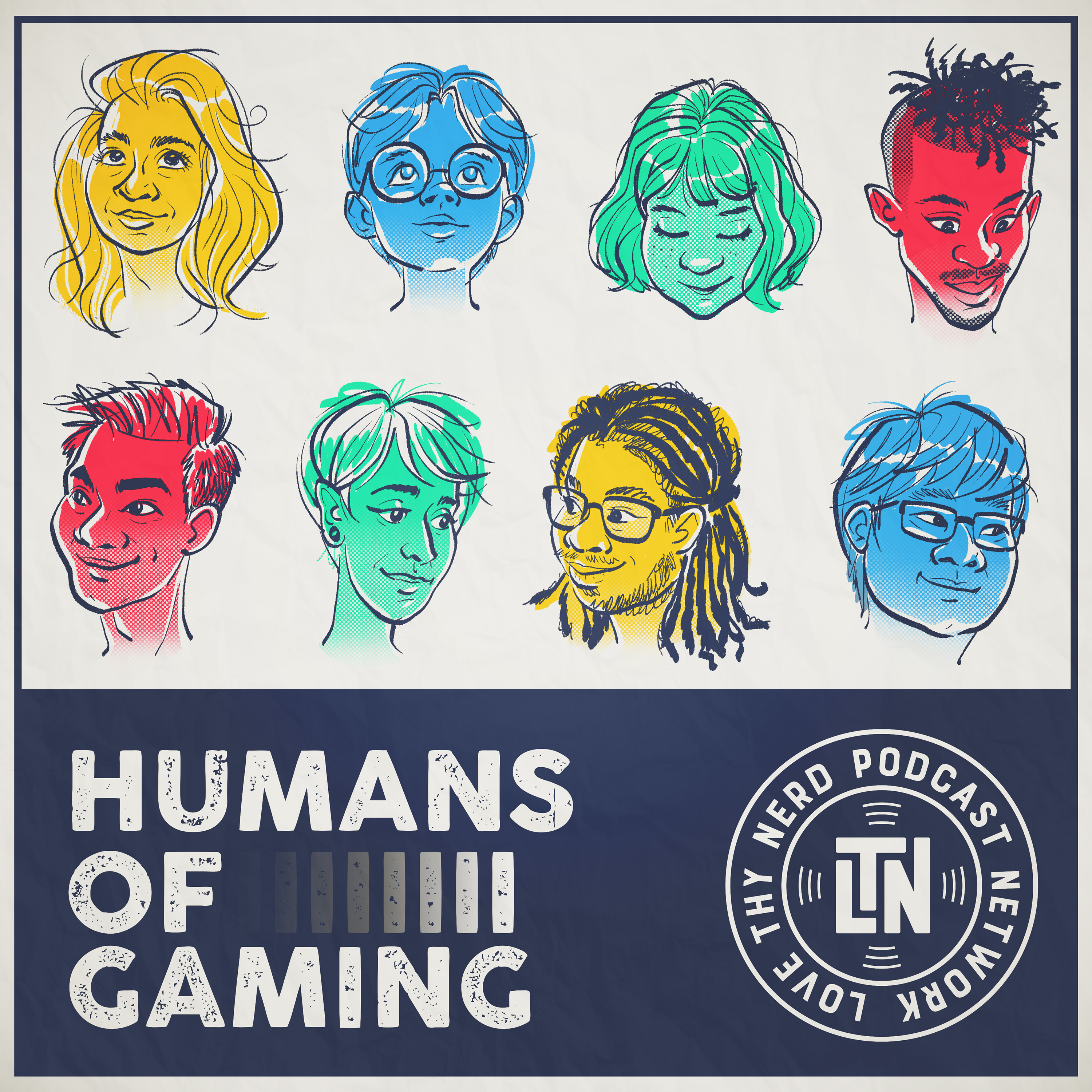 Humans of Gaming Podcast show art
