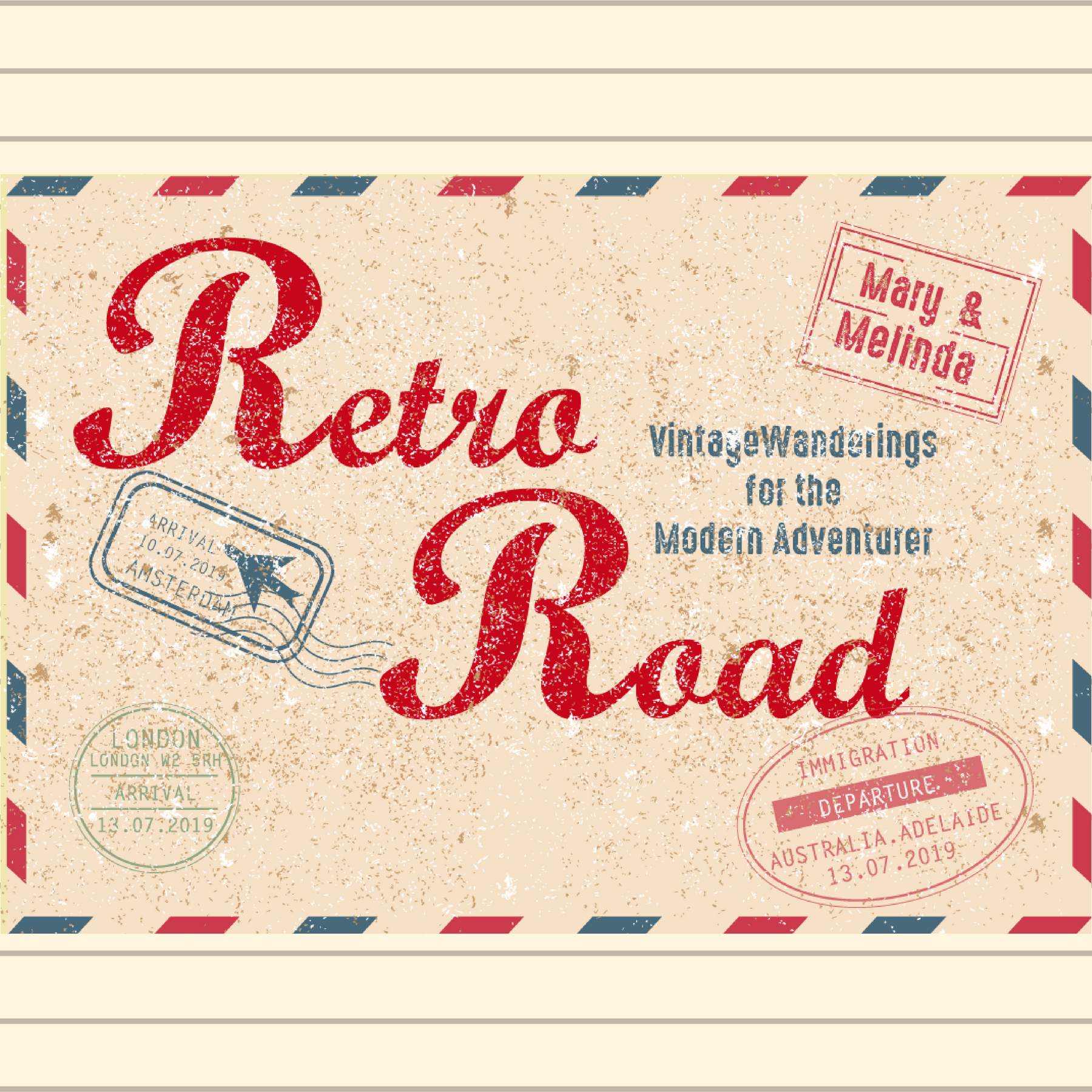 Retro Road Podcast show art