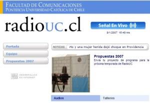 270 ChilePodscast  - Entrevista Radio UC