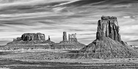 Monument Valley, Infrared, B&W