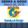 Artwork for Interview with Geeks a GoGo 3-26-16 - Live at the Blue Box