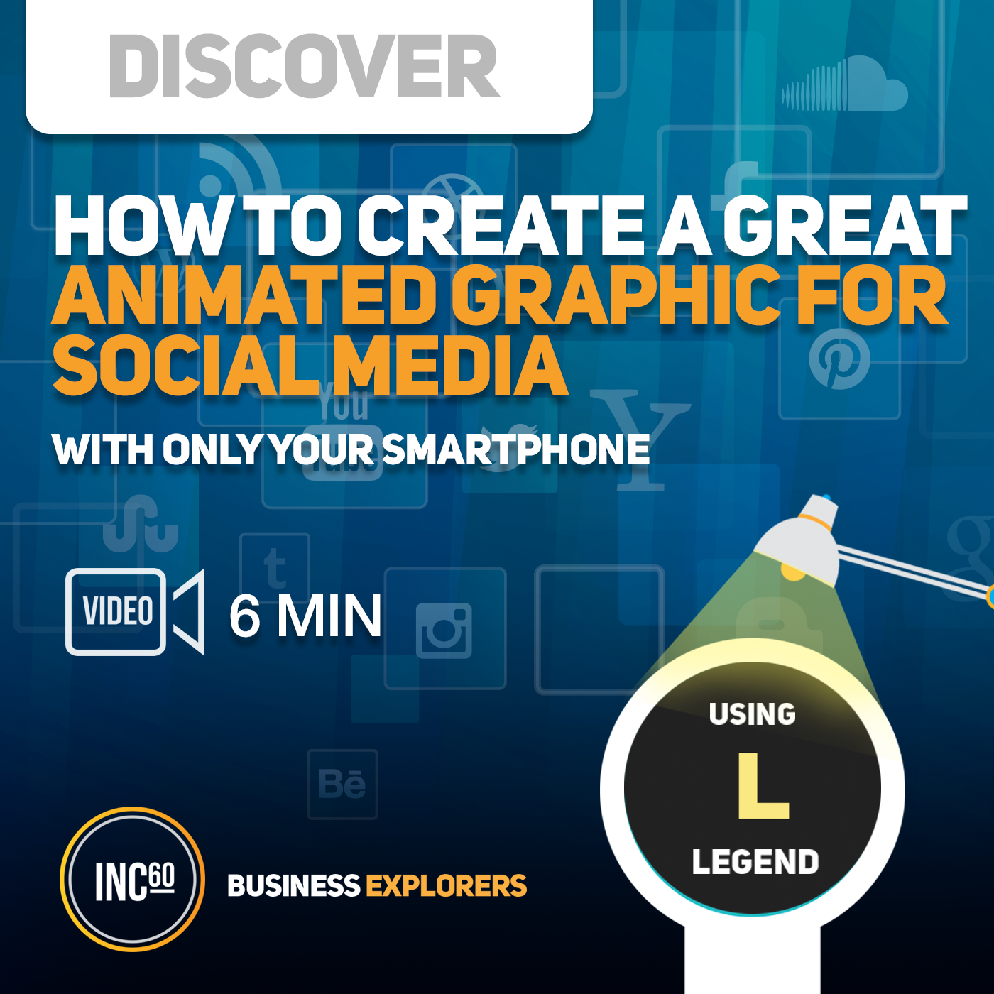 Artwork for Create a great animated graphic for Social Media - 6 mins