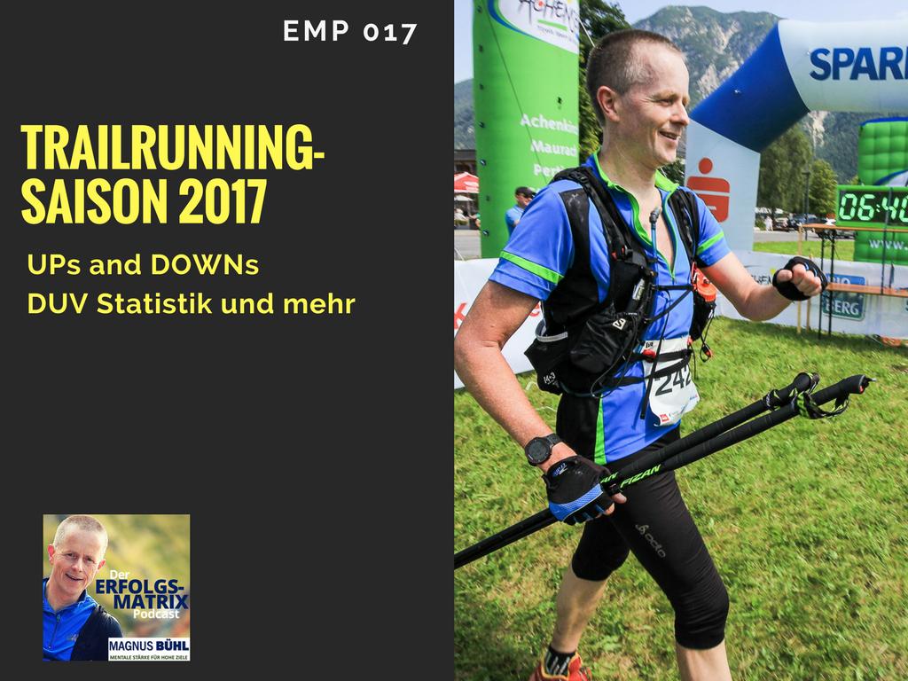 EMP017 - Trailrunning-Saison 2017