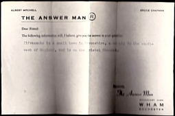 223-140825 In the Old-Time Radio Corner - The Answer Man