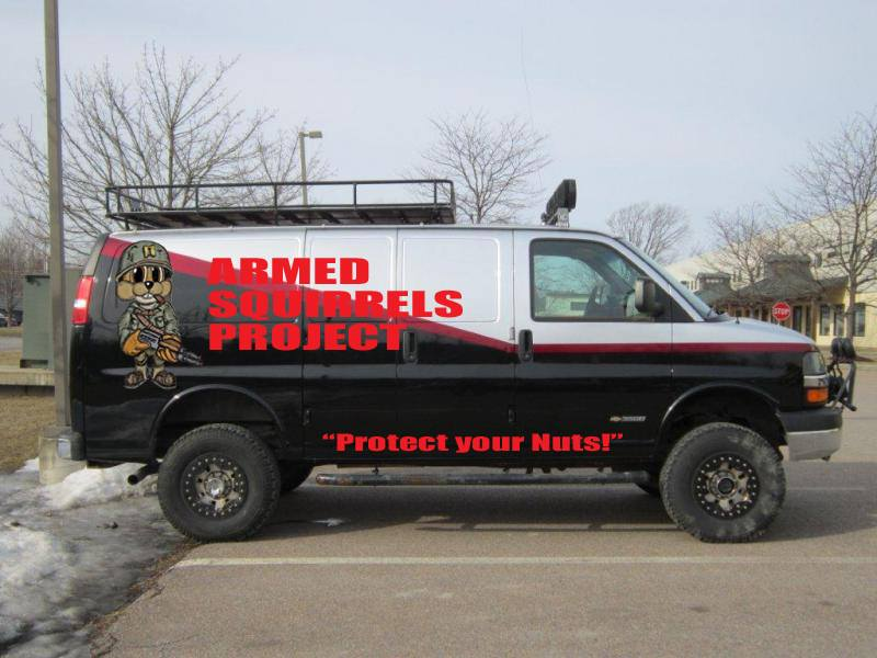 Armed Squirrels Project's podcast show art