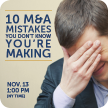 Artwork for Tech M&A Monthly - 10 M&A Mistakes You Don't Know You're Making (1)