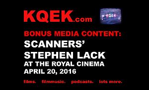 KQEK.com ---  Scanners actor Stephen Lack at The Royal Cinema (2016)