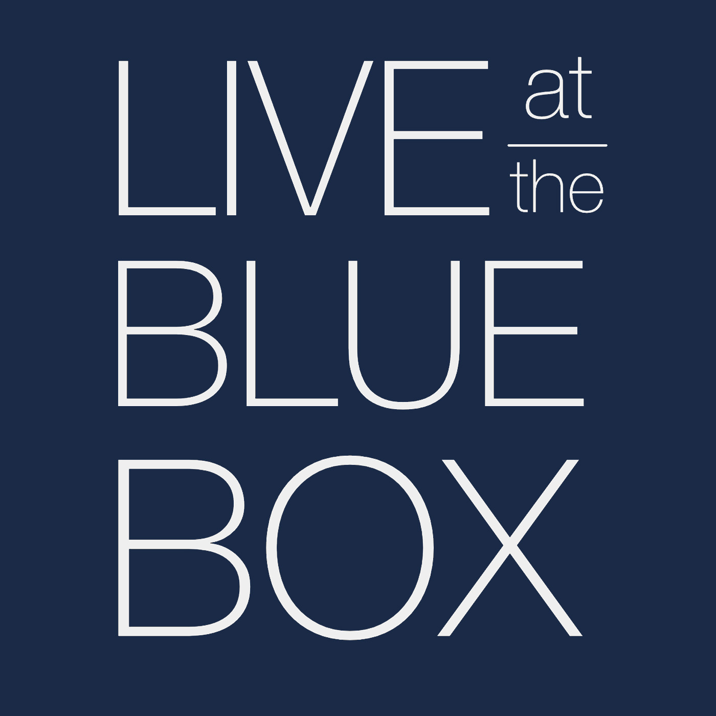Live at the Blue Box show art