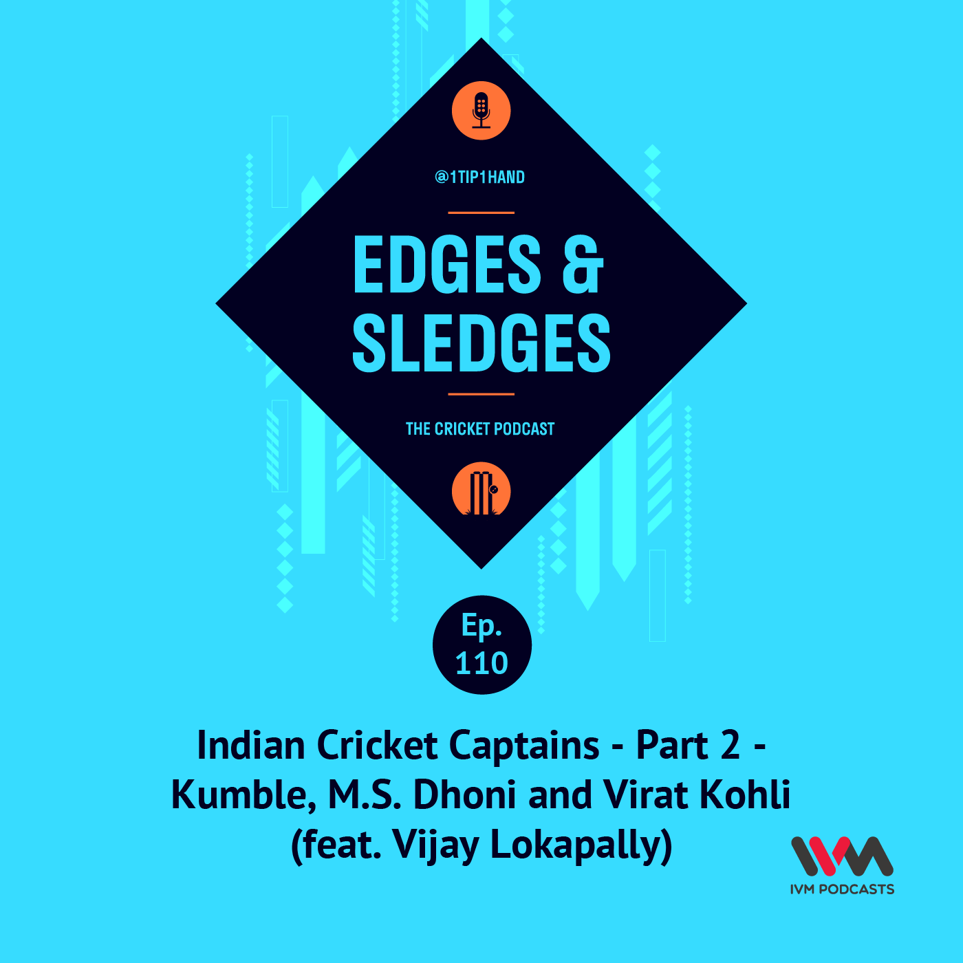 Ep. 110: Indian Cricket Captains - Part 2 - Kumble, M.S. Dhoni and Virat Kohli (feat. Vijay Lokapally)