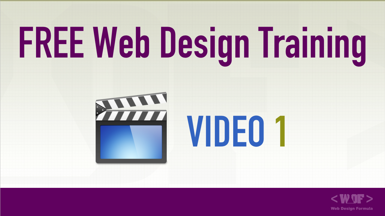 Watch [Video 1] of the Web Design Formula Training