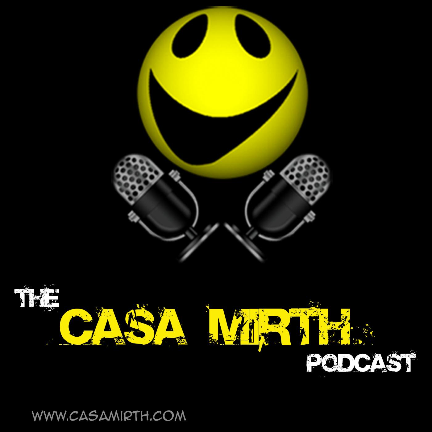 The Casa Mirth podcast show art