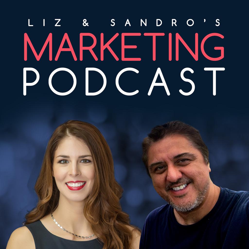 Liz & Sandro's Marketing Podcast logo