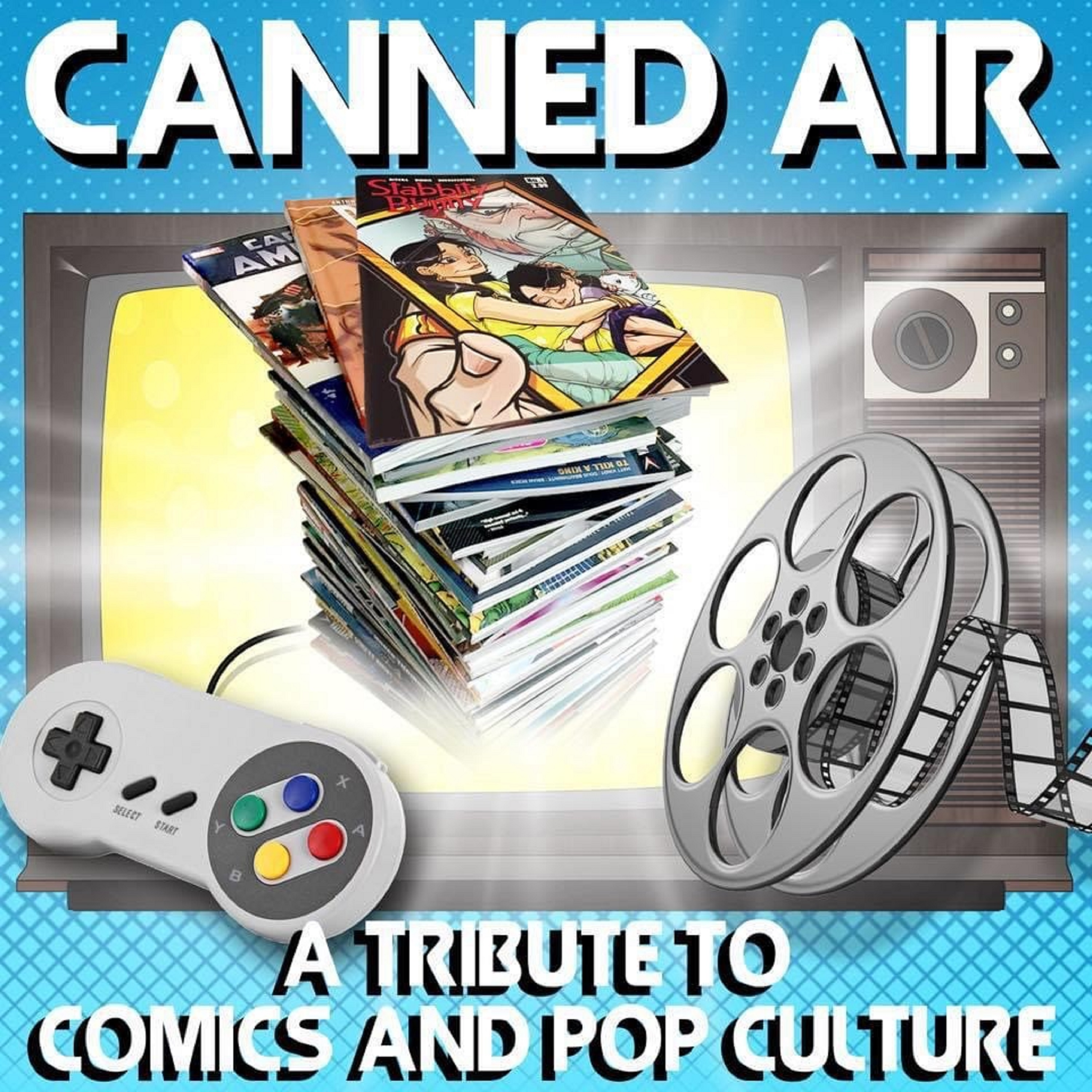 Canned Air: A Tribute to Comics and Pop Culture show art
