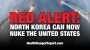 Artwork for RED ALERT: North Korea can now NUKE the United States