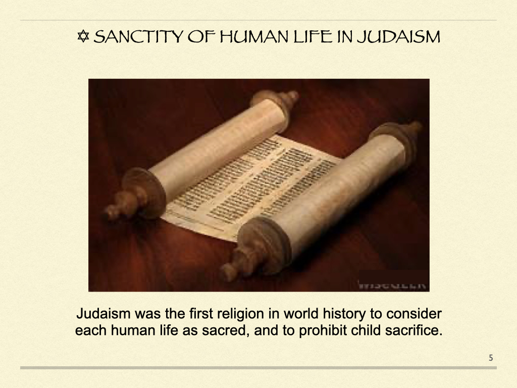 Sanctity of Human Life in Judaism