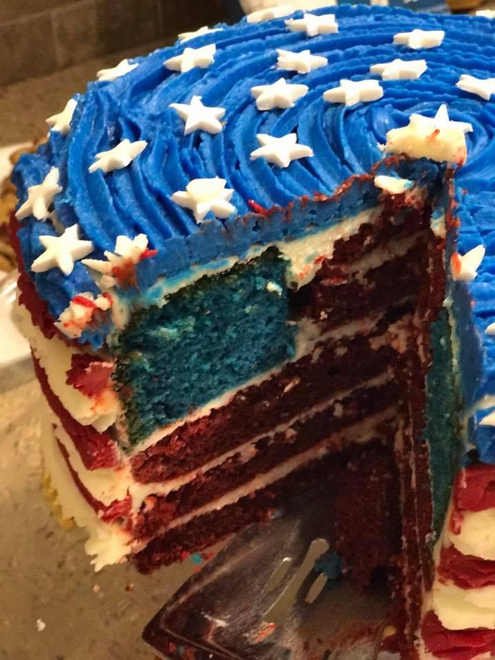 Shawn Mortensen's patriotic cake
