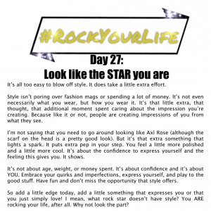 DAY 27 #RockYourLife
