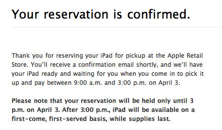 How to Reserve you iPad for pickup at an Apple Store