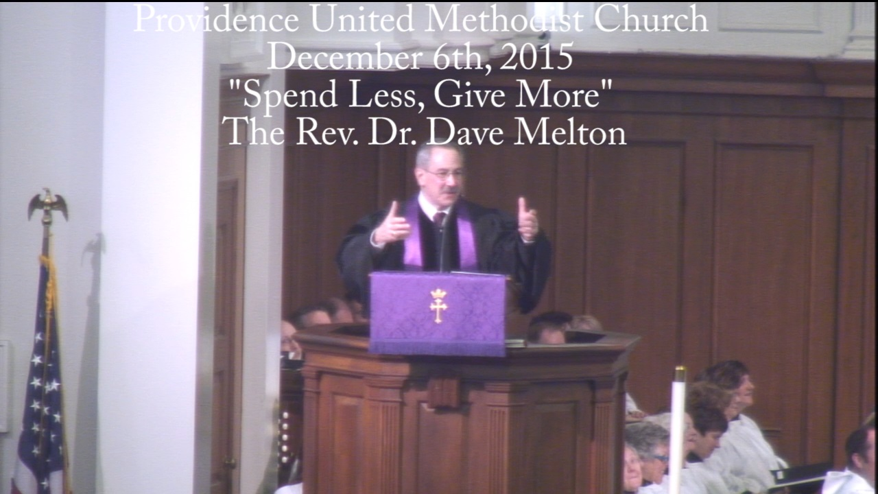 "Traditional Worship Sermon ""Spend Less, Give More"""