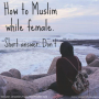Artwork for EP7: Ex-Muslim Scottish author tells us how to Muslim while female. Short answer: Don't