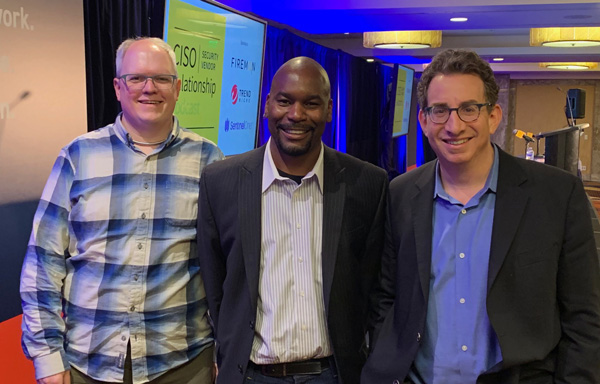 Mike Johnson, Jimmy Sanders, head of information security, Netflix DVD, and David Spark