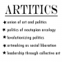 Artwork for Artitics: the union of art and politics