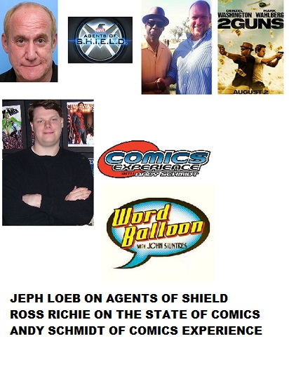 Word Balloon Podcast Jeph Loeb On Marvel Agents Of Shield THOR 2 Netflix, Ross Richie Talks BOOM! & 2GUNS and Comics Experience Andy Schmidt