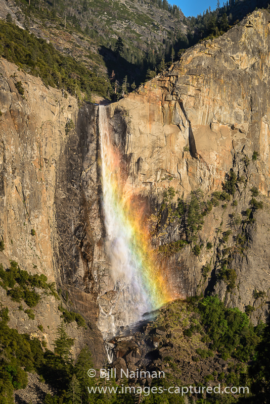 Bridal Veil Falls Rainbow by Bill Naiman