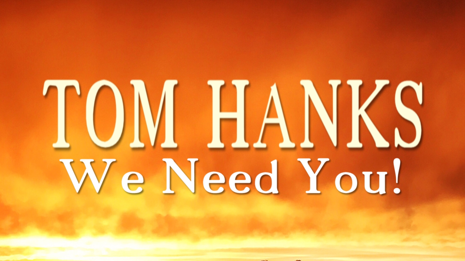 Tom Hanks, We Need You