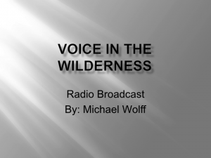 Voice in the Wilderness