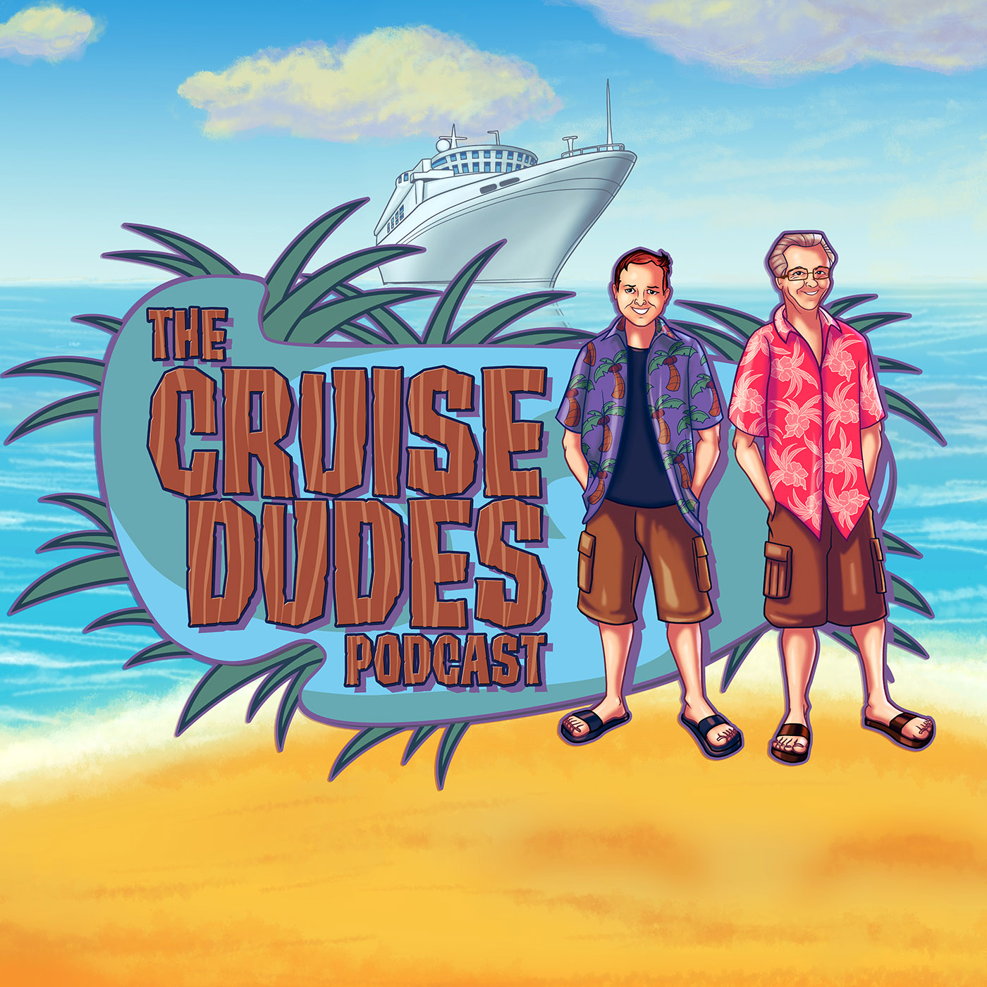 The Cruise Dudes Podcast show art
