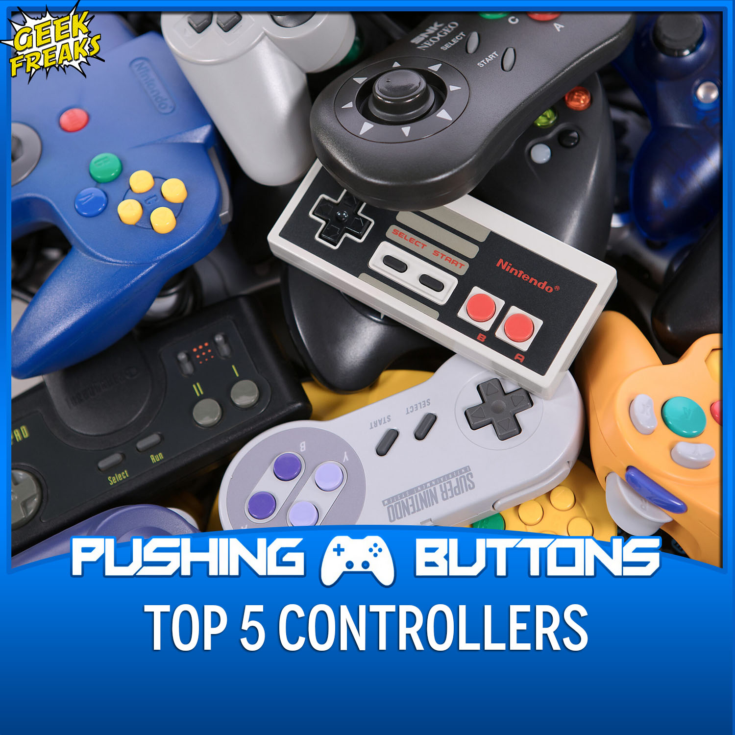 Top 5 Controllers and Upcoming Games - Pushing Buttons show art