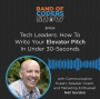 Artwork for 024 Tech Leaders: How To Write Your Elevator Pitch In Under 30 Seconds with Neil Gordon