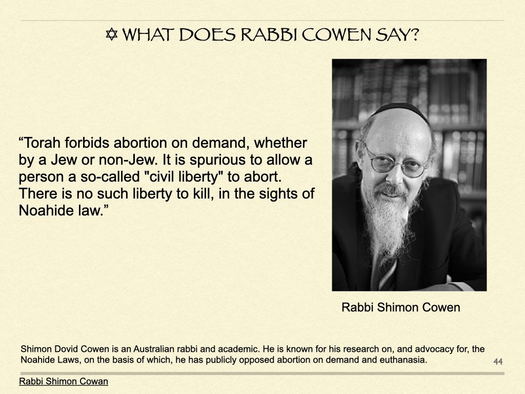 What Does Rabbi Cowen Say?