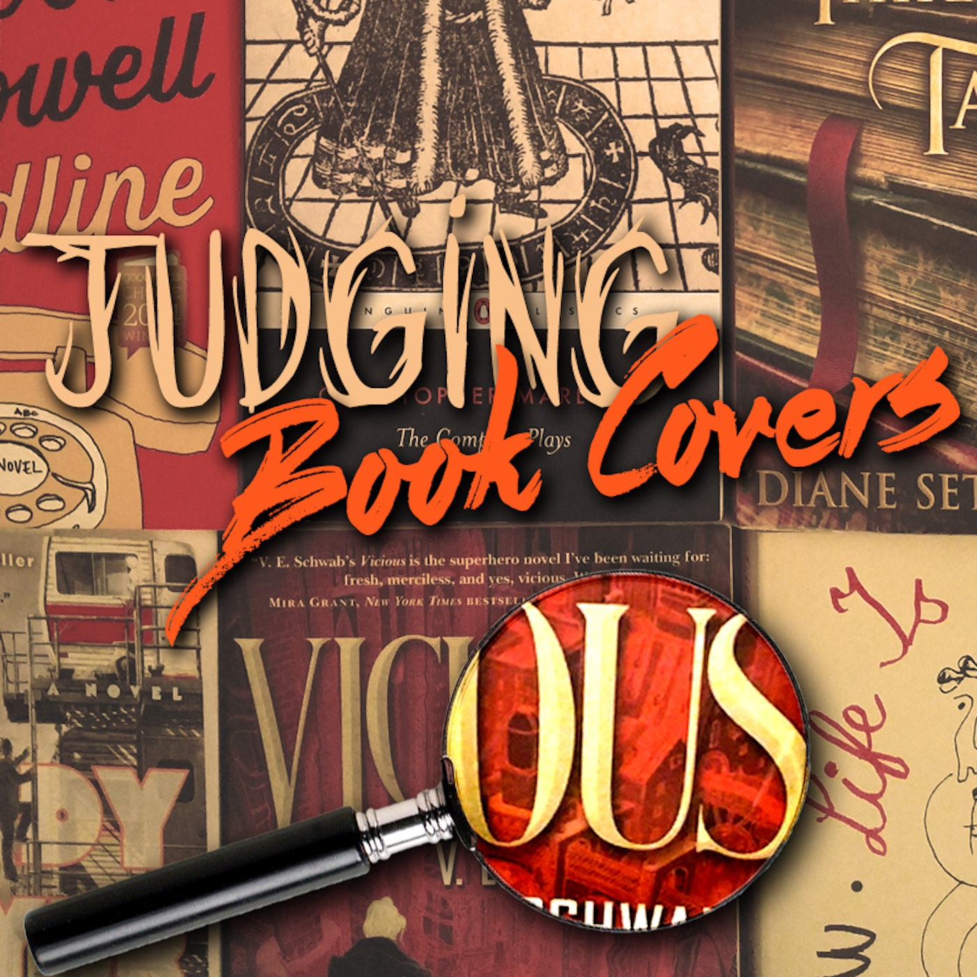 Judging Book Covers Podcast show art