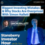 Artwork for Biggest Investing Mistakes & Why Stocks are Overpriced with Simon Hallett