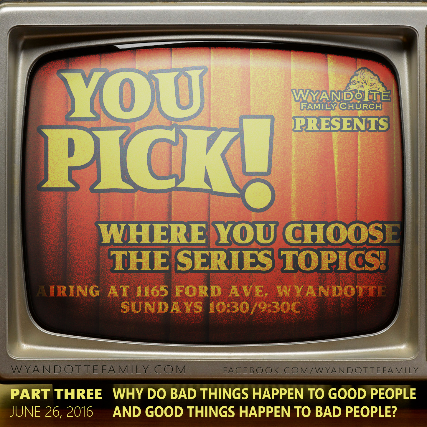 "YouPick Part 3: ""Why Do Good Things Happen to Bad People and Bad Things Happen to Good People?"""