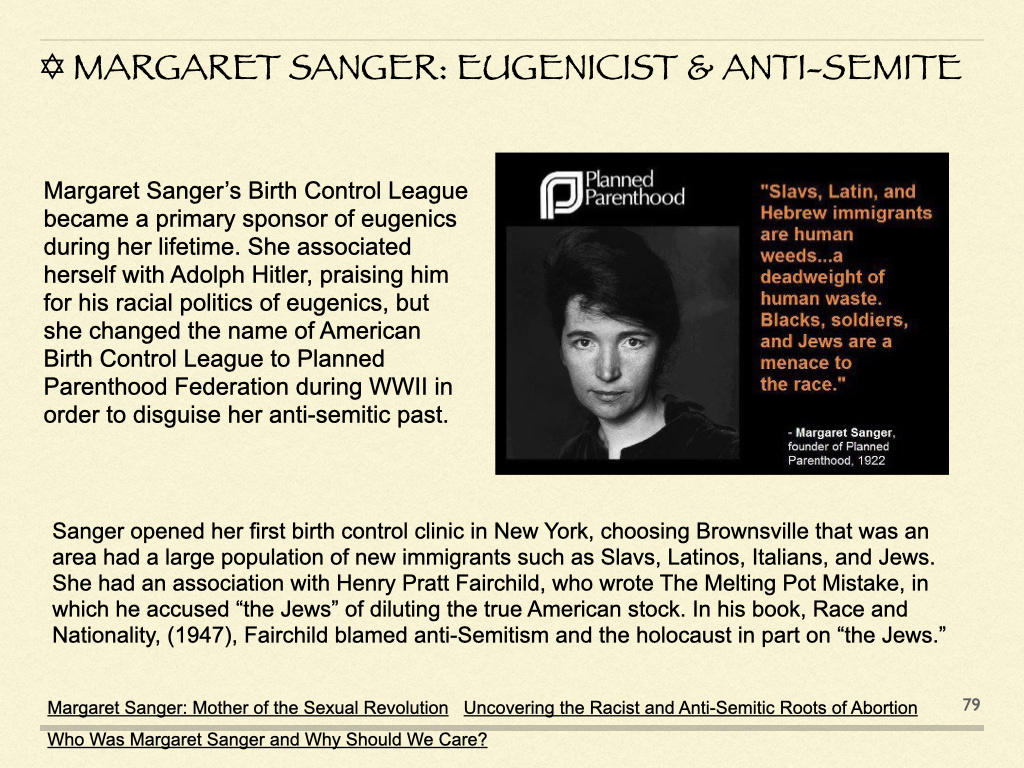 Margaret Sanger: Eugenicist & Anti-Semite