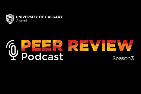 Peer Review - The University of Calgary Alumni Podcast logo