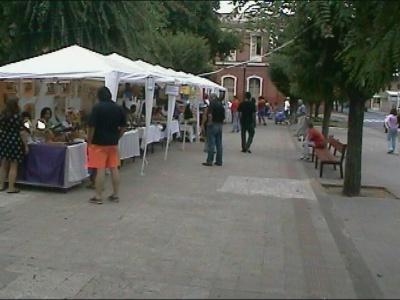 140 ChilePodcast en la Segunfa Feria -Arte y Cultura en la Plaza de San Fernando