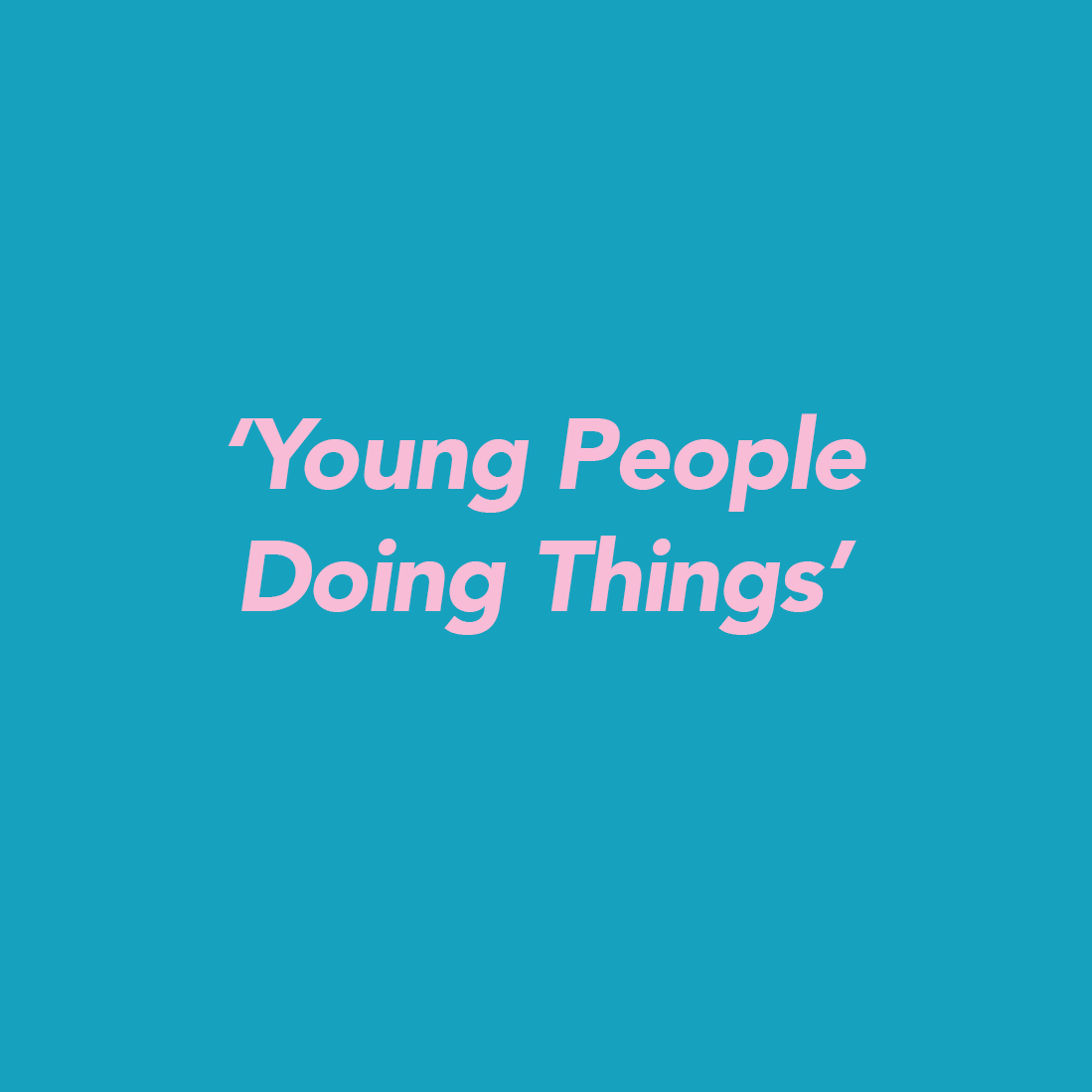 Young People Doing Things  show image