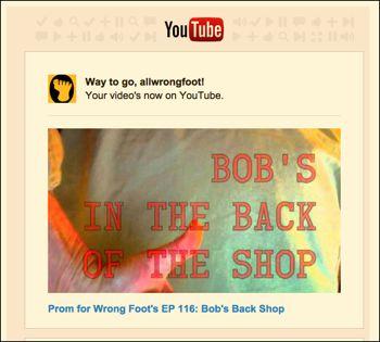 YouTube for Bob's Back Shop