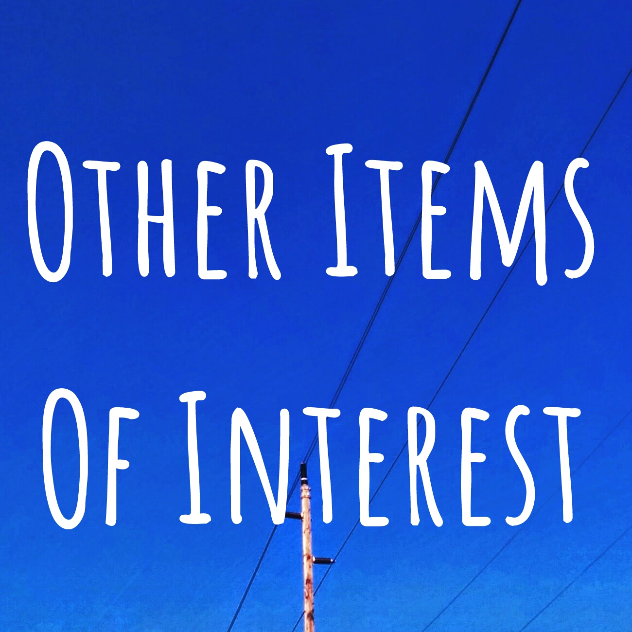 Other Items Of Interest episode 191113 show art