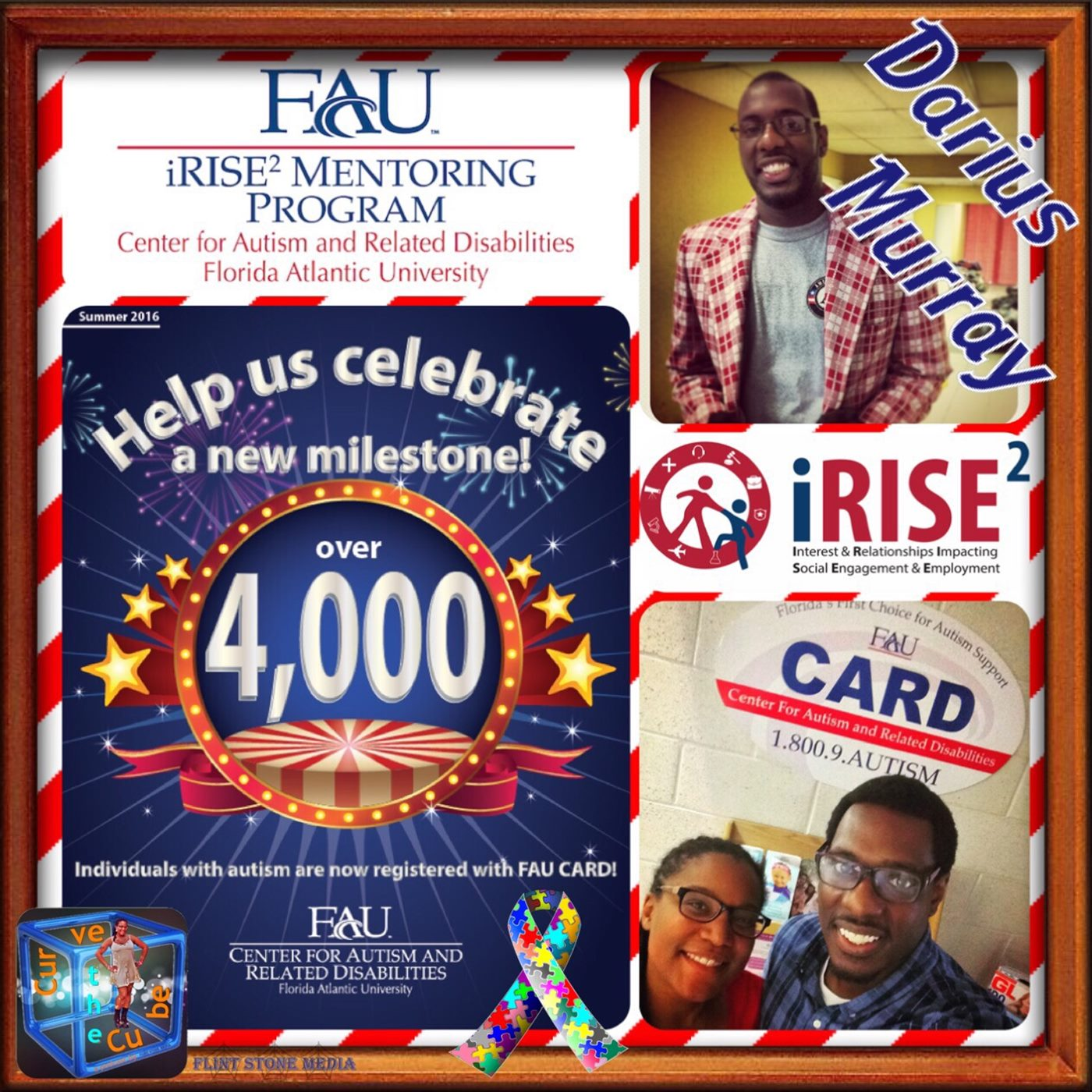 Darius Murray, Clinical Mentoring Associate for FAU's CARD, or Center for Autism and Related Disabilities on the Curve the Cube Podcast