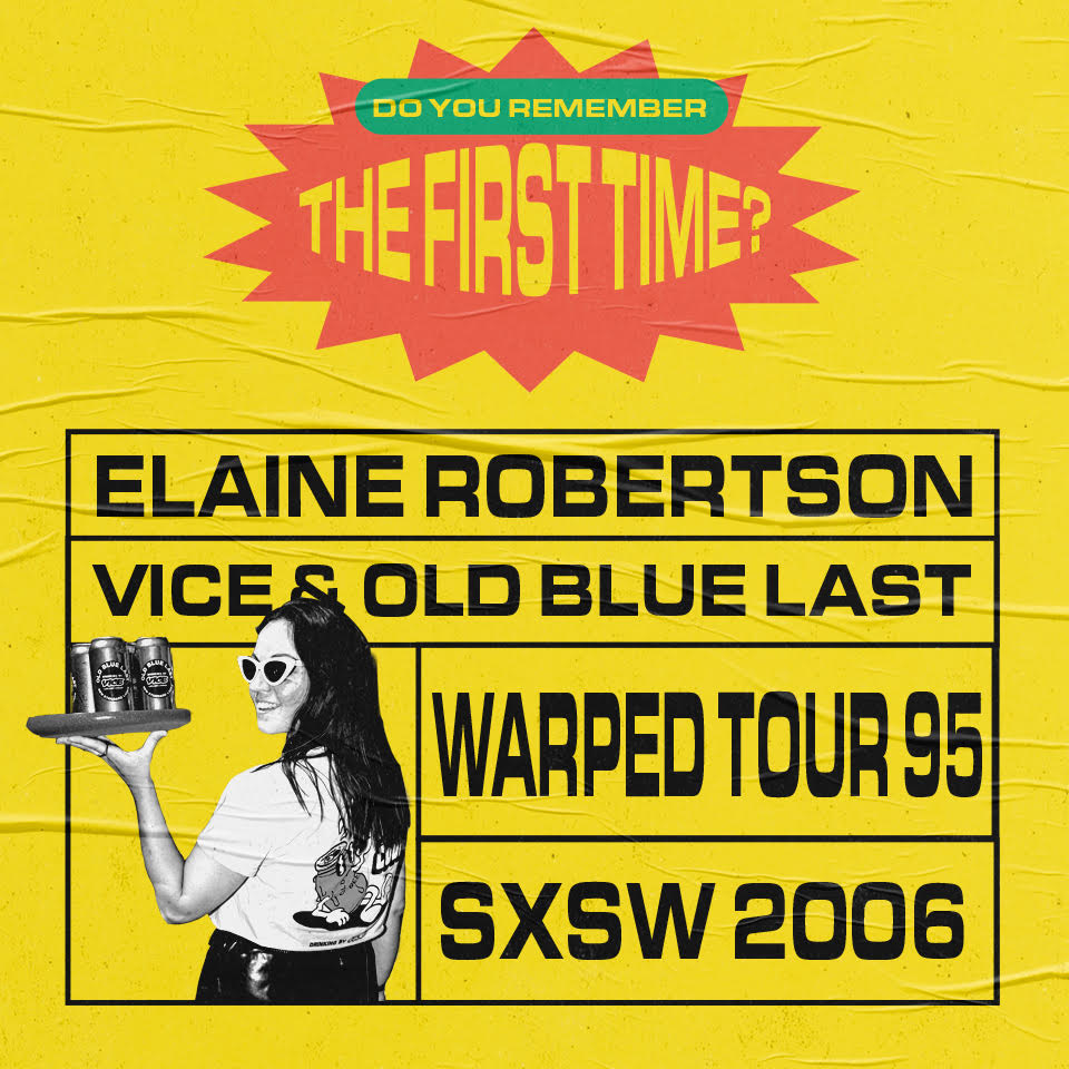 Elaine Robertson's first gig was Skatefest '95 show art